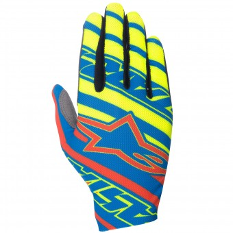Gants Cross Alpinestars Dune Blue Red