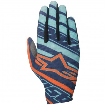 Gants Cross Alpinestars Dune Turquoise Orange