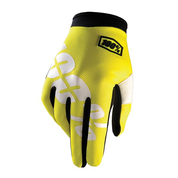 Gants Cross 100% Itrack Neon Yellow