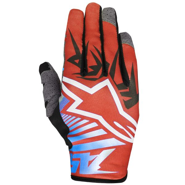 Gants Cross Alpinestars Racer Braap Red Blue White