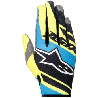 Gants Cross Alpinestars Racer Supermatic Black Blue Yellow Enfant