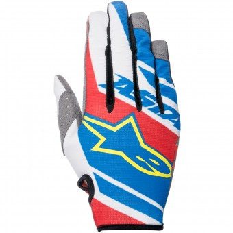 Gants Cross Alpinestars Racer Supermatic Blue Red White Enfant