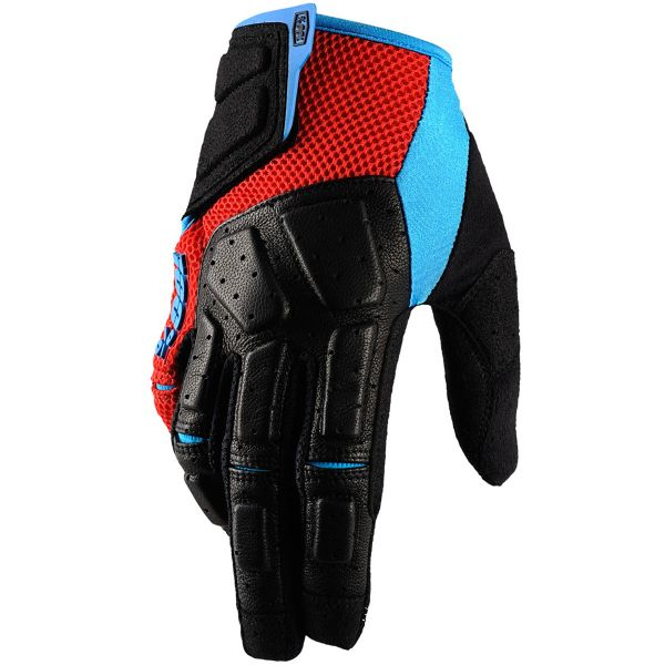 Gants Cross 100% Simi Red Cyan