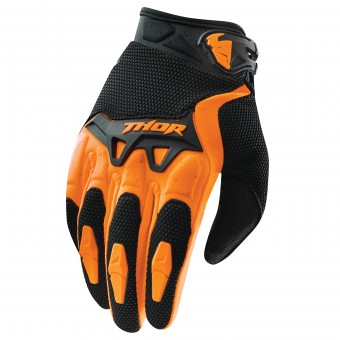 Gants Cross Thor Spectrum Orange Noir Enfant