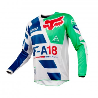 Maillot Cross FOX 180 Sayak Green 004