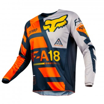 Maillot Cross FOX 180 Sayak Orange 008