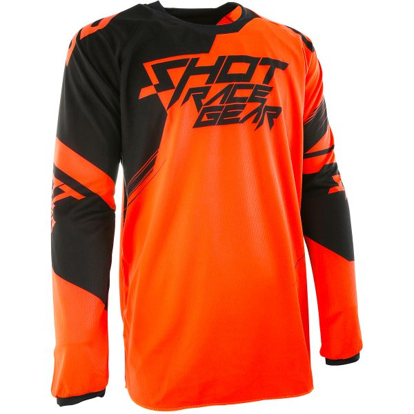 Maillot Cross SHOT Contact Claw Neon Orange