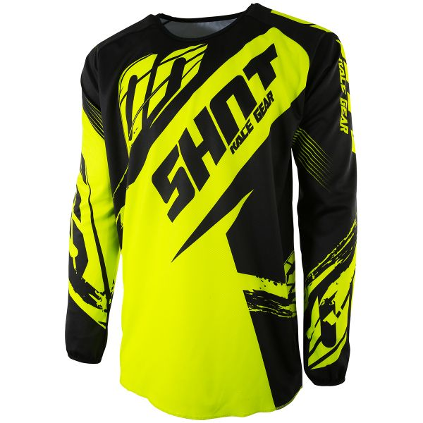 Maillot Cross SHOT Devo Fast Neon Yellow Enfant