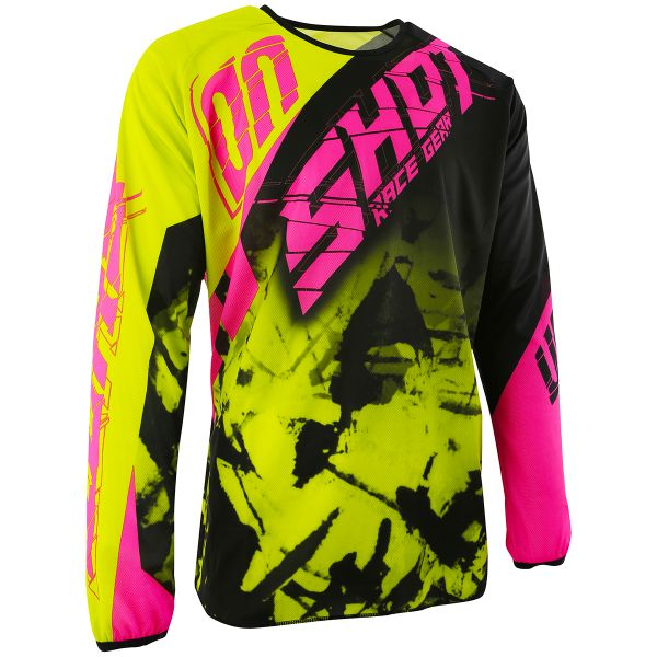 Maillot Cross SHOT Devo Squad Lime Neon Pink