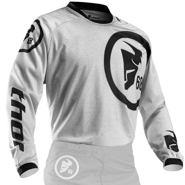 Maillot Cross Thor Phase Gasket Heather Black