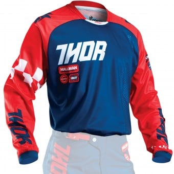Maillot Cross Thor Phase Ramble Navy Red Enfant