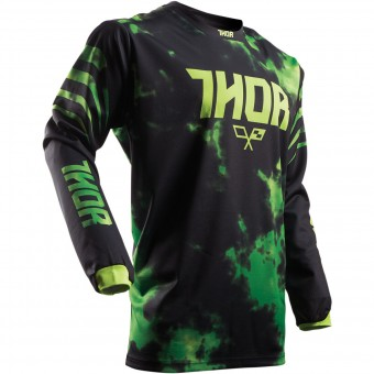 Maillot Cross Thor Pulse Tydy Green Black