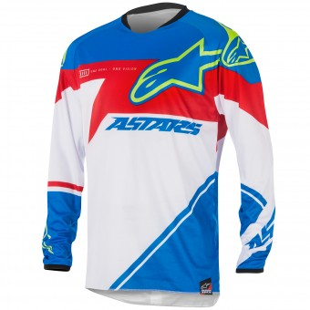Maillot Cross Alpinestars Racer Supermatic Blue Red