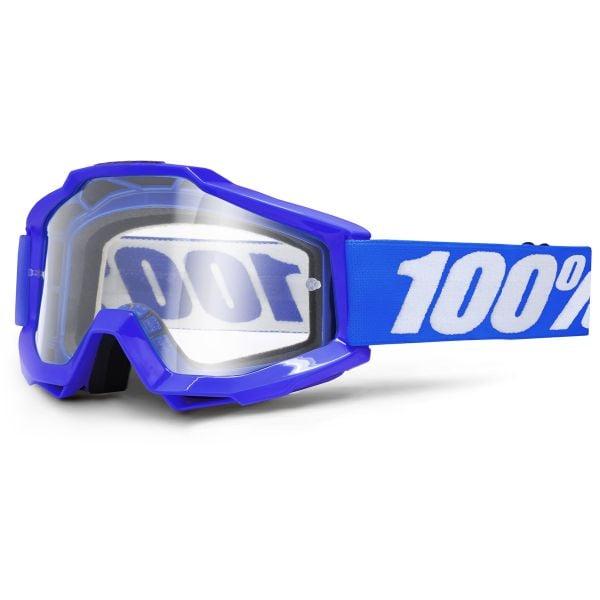 Masque Cross 100% Accuri Reflex Blue Clear Lean