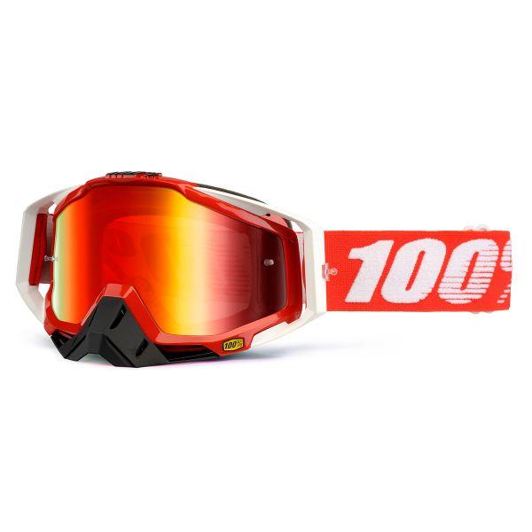 Masque Cross 100% Racecraft Fire Red
