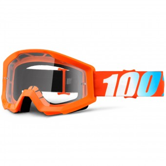 Masque Cross 100% Strata Orange Clear Lens Enfant
