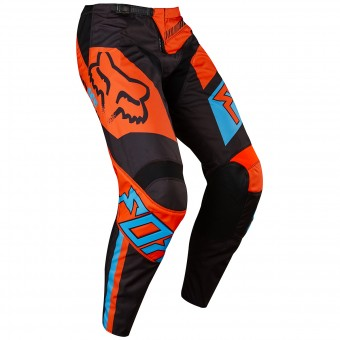 Pantalon Cross FOX 180 Falcon Black Orange Pant Enfant 016