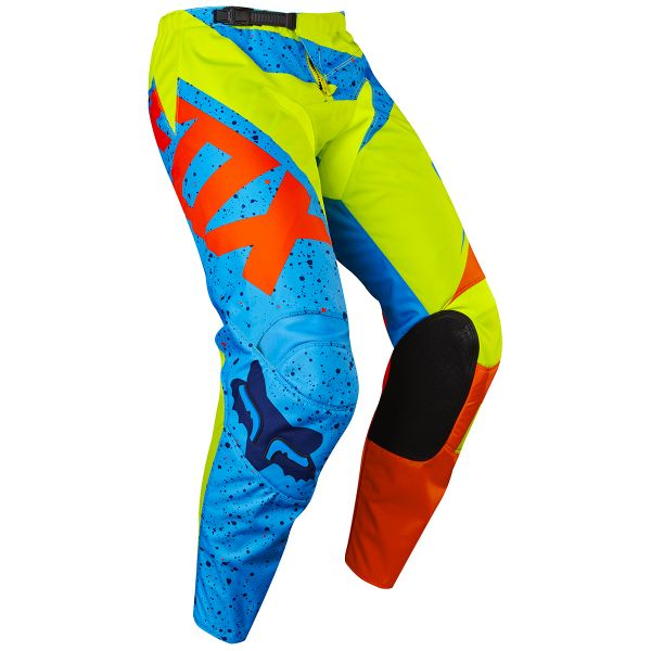 Pantalon Cross FOX 180 Nirv Yellow Blue Pant Enfant 586