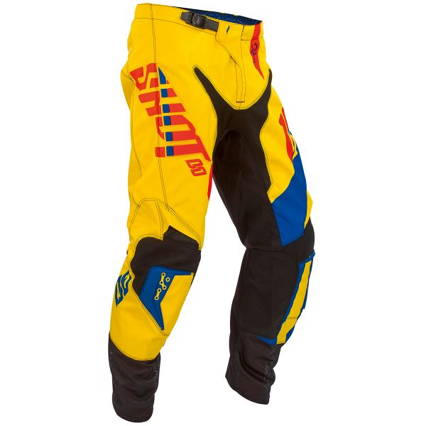 Pantalon Cross SHOT Flexor System Blue Red Pant