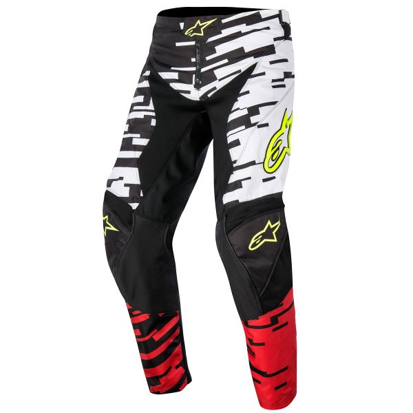 Pantalon Cross Alpinestars Racer Braap White Red Pant Enfant