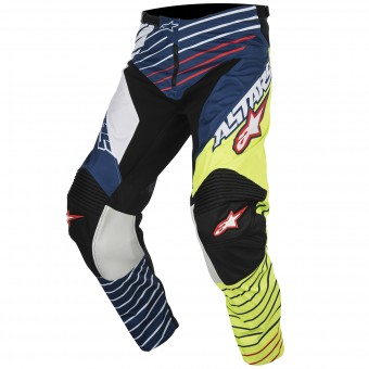 Pantalon Cross Alpinestars Racer Braap Yellow Fluo Blue Pant