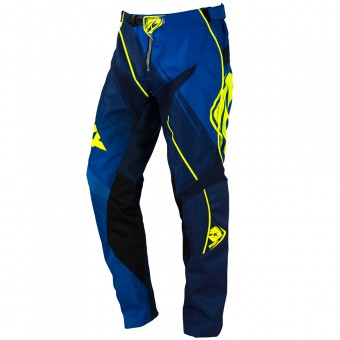 Pantalon Cross Kenny Track Blue Neon Yellow Pant Enfant