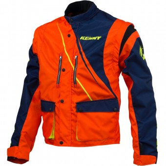 Veste Cross Kenny Track Enduro Blue Neon Orange Jacket
