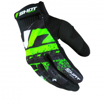Gants Cross SHOT Drift Neon Green CE