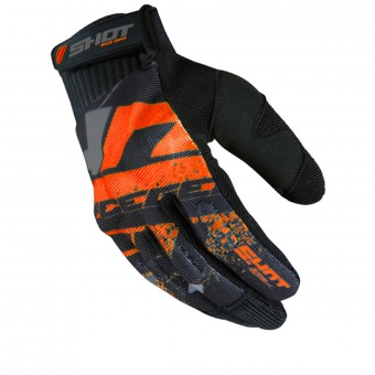 Gants Cross SHOT Drift Neon Orange CE