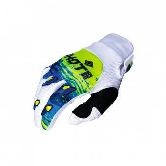 Gants Cross SHOT Contact Counter Bleu Neon Jaune CE