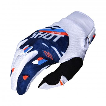 Gants Cross SHOT Contact Score Bleu Neon Orange CE