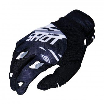 Gants Cross SHOT Contact Score Noir Blanc CE