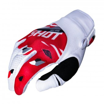 Gants Cross SHOT Contact Score Rouge Blanc CE