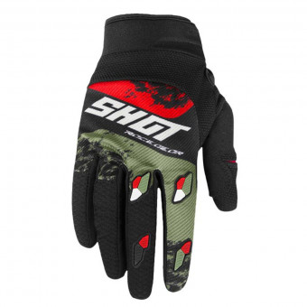 Gants Cross SHOT Contact Shadow Kaki Red CE