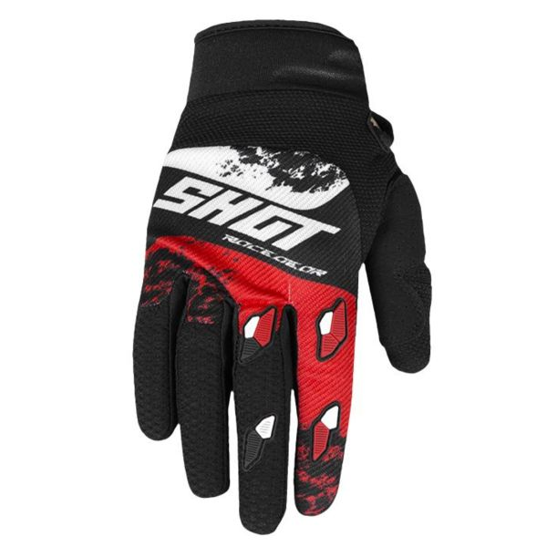 Gants Cross SHOT Contact Shadow Red White CE