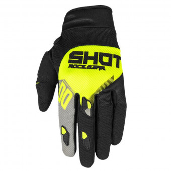 Gants Cross SHOT Contact Trust Grey Neon Yellow CE