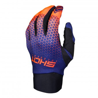 Gants Cross SHOT Delta Bleu Neon Orange CE