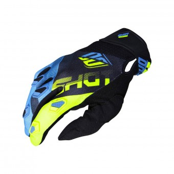 Gants Cross SHOT Devo Ultimate Bleu Neon Jaune CE