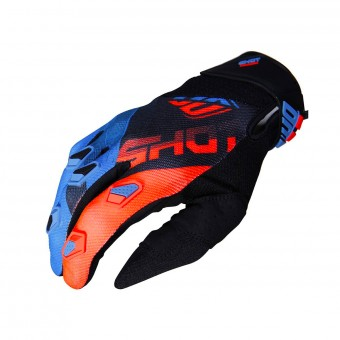 Gants Cross SHOT Devo Ultimate Bleu Neon Orange CE