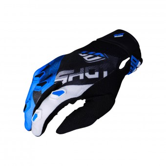 Gants Cross SHOT Devo Ultimate Noir Cyan CE