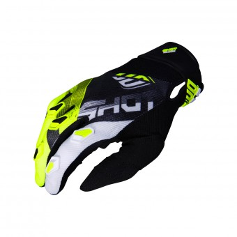 Gants Cross SHOT Devo Ultimate Noir Neon Jaune CE