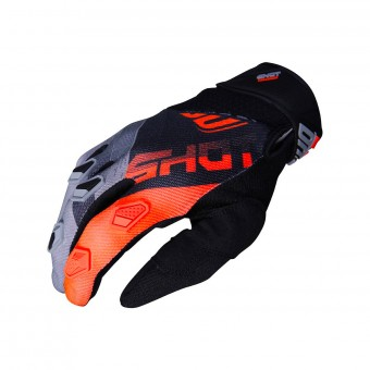Gants Cross SHOT Devo Ultimate Noir Neon Orange CE