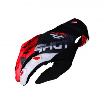 Gants Cross SHOT Devo Ultimate Noir Rouge CE