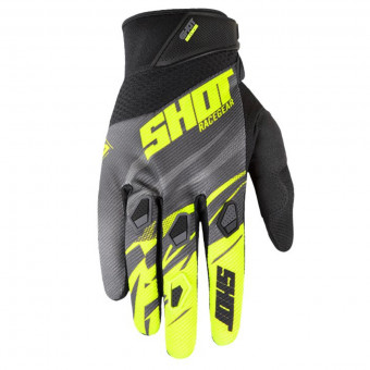 Gants Cross SHOT Devo Ventury Dark Grey Neon Yellow CE Kid