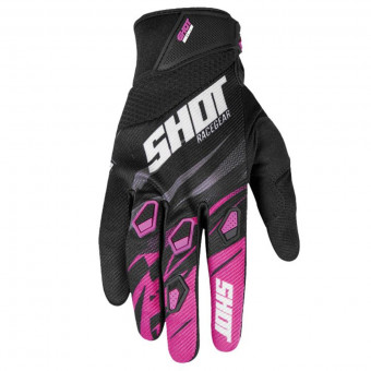 Gants Cross SHOT Devo Ventury Neon Pink Fuchsia CE Kid