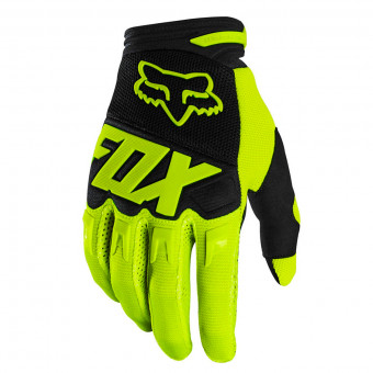 Gants Cross FOX Dirtpaw Race Fluo Yellow Enfant
