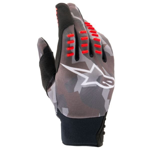 Gants Cross Alpinestars SMX-E Black Camo Red Fluo