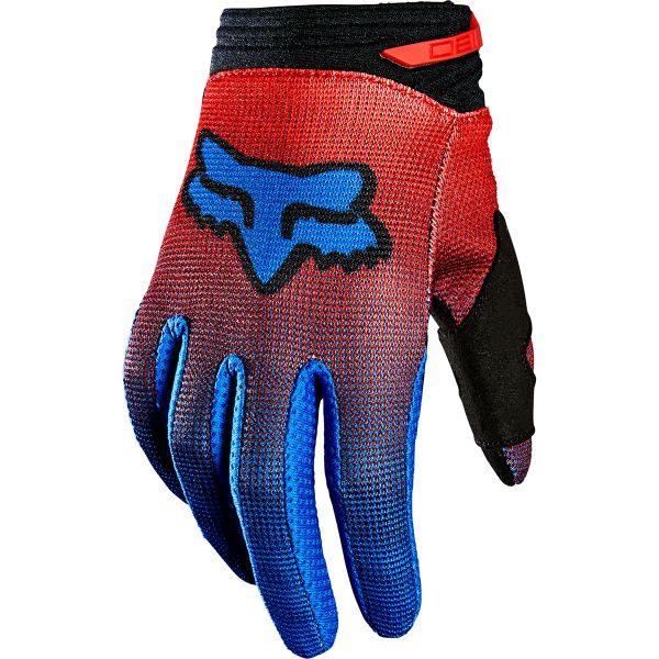 Gants Cross FOX 180 Oktiv Glove Fluo Red Enfant