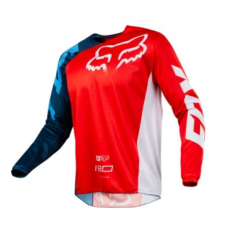 Maillot Cross FOX 180 Race Red White 003