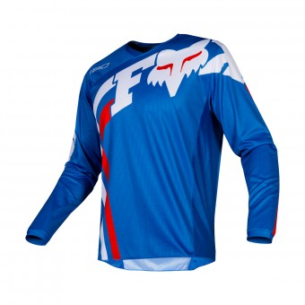Maillot Cross FOX 180 Cota Bleu Blanc